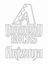 Coloring Arizona Mlb Diamondbacks Baseball Backs Diamond Cardinals Az League Wildcats Major Printable Sheets Sports Colors Again Bar Don Looking sketch template