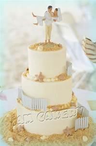 Beach Wedding Cake - J A M Cakery