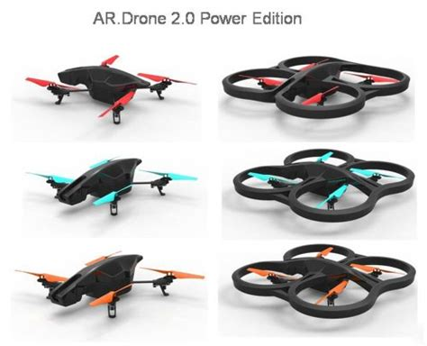 parrot ardrone  power edition quadricopter  hd batteries  minutes  flying time