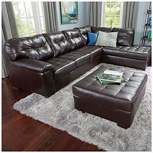 Simmons faux leather manhattan 2 piece sectional big lots for 2 piece sectional sofa big lots
