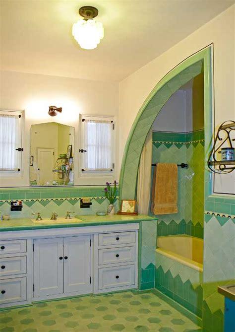 bright art deco bathroom restoration design