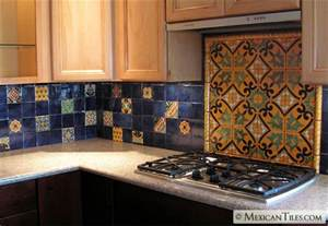 Tile Backsplash Kitchen Mexicantiles Kitchen Backsplash With Decorative Mural Using Angeles Talavera Mexican Tile