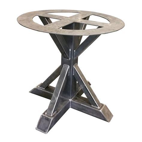 single leg dining table metal pedestal trestle table legs round table single leg