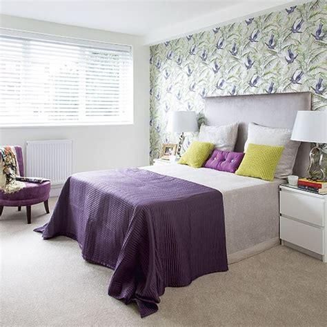 Purple And Green Modern Bedroom  Decorating Housetohome