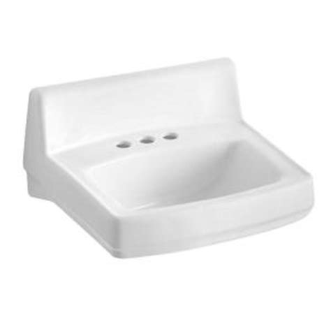 home depot wall mount sink kohler greenwich wall mounted bathroom sink in white k