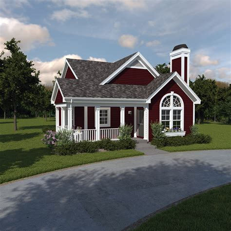 springdale country cabin home plan   house plans