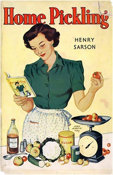 affiche cuisine vintage pickles
