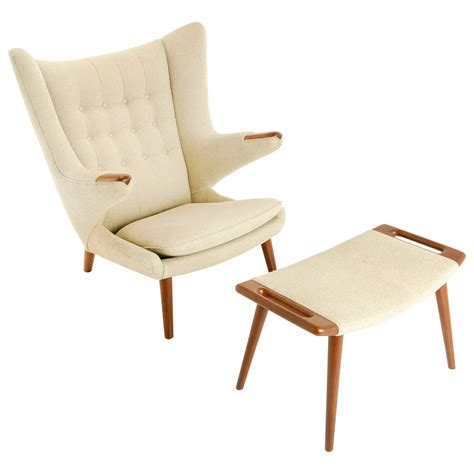 hans wegner papa chair history hans wegner papa chair and ottoman in teak at 1stdibs