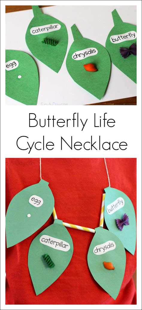 butterfly life cycle for preschool butterfly cycle craft necklace the can make 723