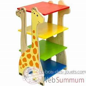 Etagere Pour Enfant : etag re girafe en bois pour enfants voila s024a de meubles d co enfant ~ Teatrodelosmanantiales.com Idées de Décoration