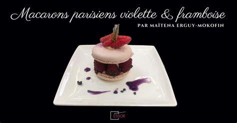 cours de cuisine anglet la recette des macarons parisiens violette et framboise