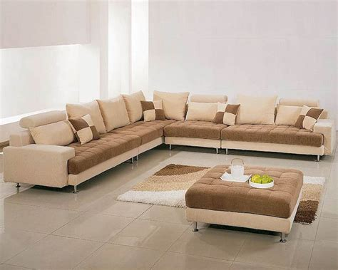 Contemporary Sectional Sofas by Two Tone Fabric Contemporary Sectional Sofa Set 44lg60b