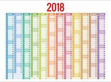 Calendario 2018 Plantilla De La Impresión La Semana