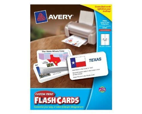 Avery Custom Print Flash Cards Punched 84 Best Toys Learning Education Images On