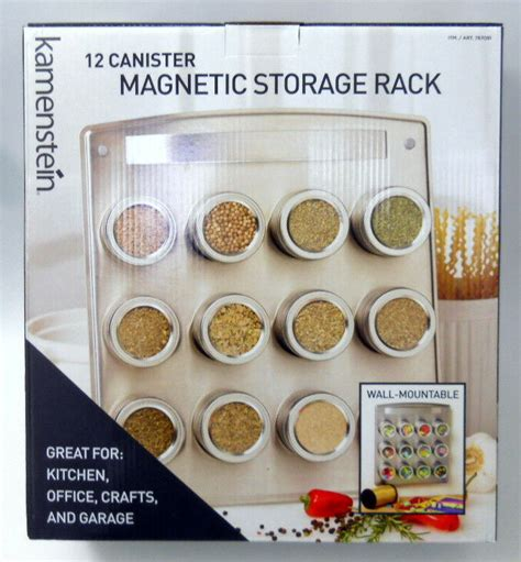 Kamenstein Magnetic Spice Rack by New Kamenstein 12 Canister Magnetic Storage Rack With Tins
