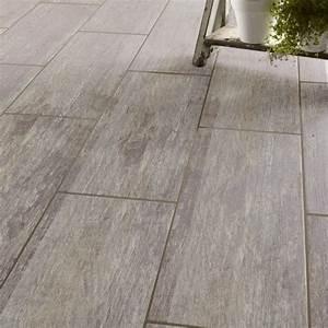 Carrelage sol et mur gris effet bois Cuba l 20 x L 60 4 cm Leroy Merlin