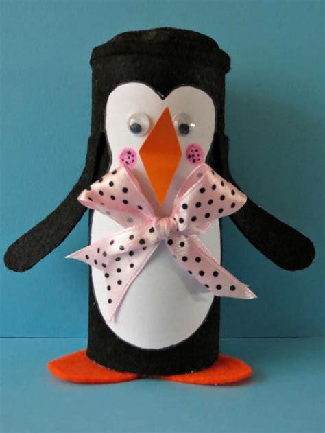 winter penguin toilet paper roll craft favecraftscom