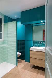 les 25 meilleures idees concernant salle de bain turquoise With porte de douche coulissante avec carrelage turquoise salle de bain