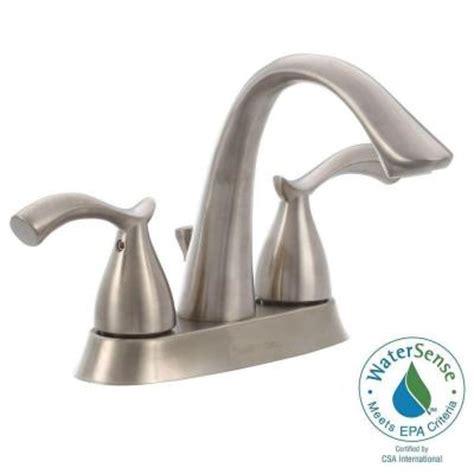 Glacier Bay Bathroom Faucet by Glacier Bay Edgewood 4 In Centerset 2 Handle High Arc
