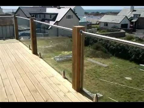 Stainless Steel Balcony Posts by Glass And Wood Post Balcony System Using The Model 6000
