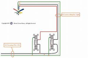 Ceiling fan wiring