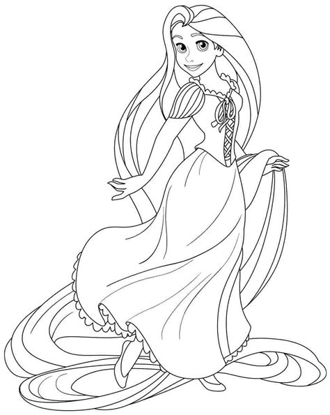 disney tangled coloring pages getcoloringpagescom