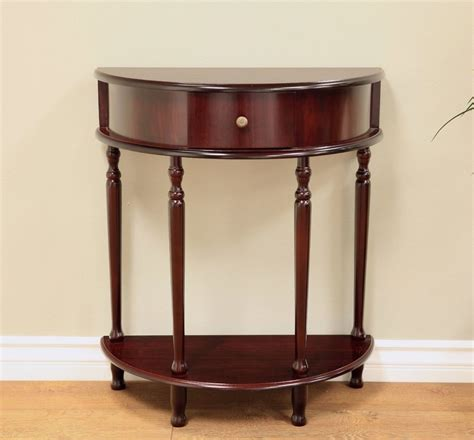 half round entry table half moon circle table round accent console foyer drawer