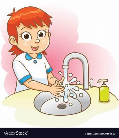 Washing Hands Wash Clipart Vector Cartoon Hand