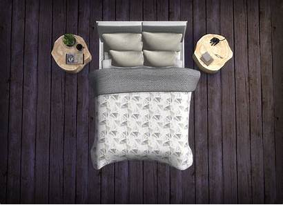 Sims Bed Frame Blankets Pillows Neutral Ts4