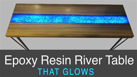 epoxy resin river table  glows diy project plans