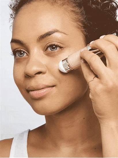 Skin Dewy Bright Makeup Beauty Byrdie Brown