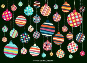 christmas ornament pattern background design vector download