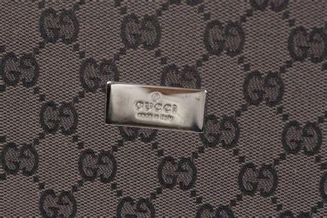 gucci brown gg monogram canvas travel tie case necktie holder rack  stdibs