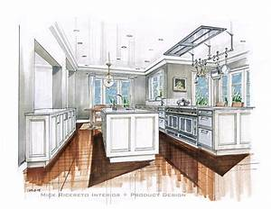 architecture mick ricereto interior product design With kitchen colors with white cabinets with hand drawn wall art