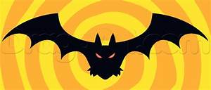 How to Draw a Cartoon Halloween Bat, Step by Step ...