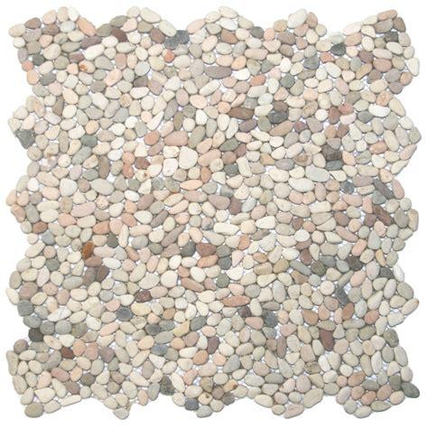 mini island mix pebble tile 12 quot x 12 quot river rock