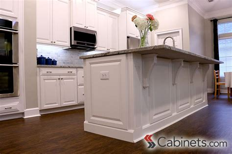kitchen island with corbels decorative end panels and corbels finish this kitchen