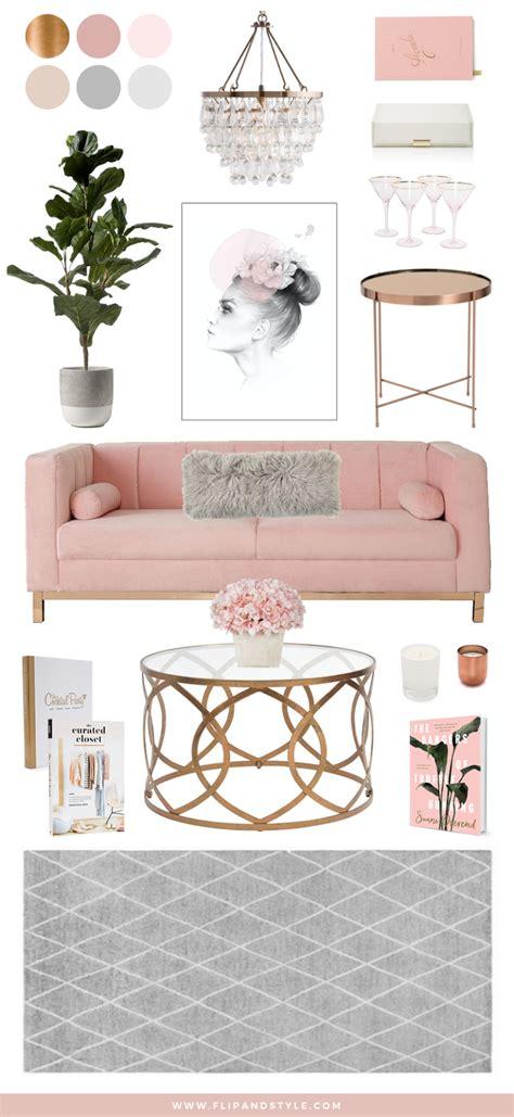 blush copper grey home decor flip  style