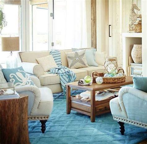 blue sandy beige living room   beach bliss