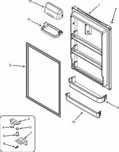 Fresh Food Door Diagram  U0026 Parts List For Model Ctb1821arw