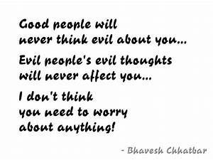 Fresh Quotes…... Evil Thought Quotes