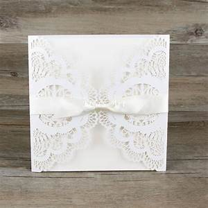 free shipping 30pcs lot lace bowknot wedding invitation With wedding invitation cards blank inside