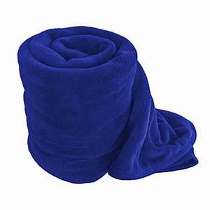 Royal Blue Coral Microfiber Fleece Throw Blanket Plush