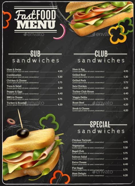 sumptuous sandwich menu designs psd ai
