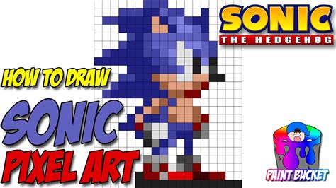 How To Draw Sonic The Hedgehog 16-bit