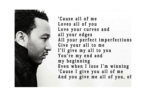 download lyrics all of me john legend