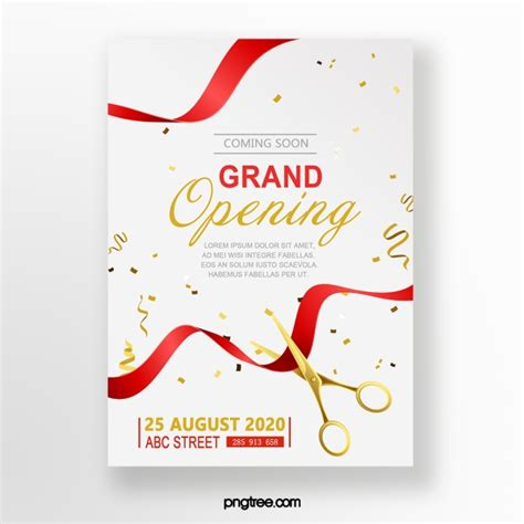 Grand Opening Celebration Invitation Template for Free