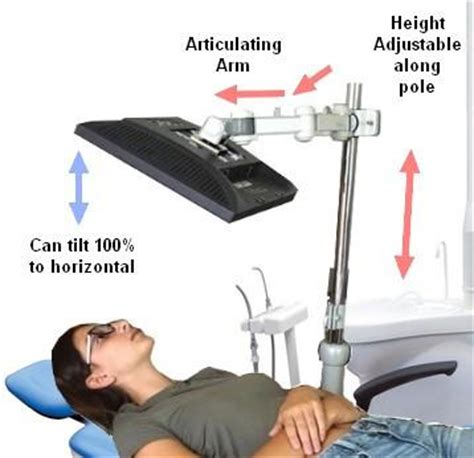 dp125 22 5 quot lcd monitor pole arm for dental chairs