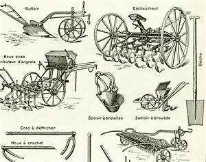 Materiel Agricole Ancien : 1897 agriculture tools sowing machine original antique print farming equipment french ~ Medecine-chirurgie-esthetiques.com Avis de Voitures