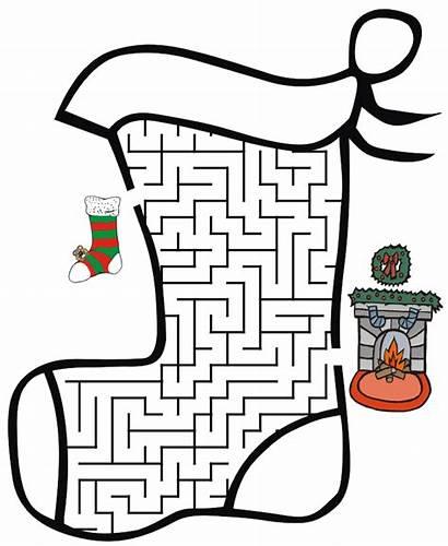 Christmas Mazes Easy Maze Printable Puzzles Games